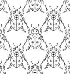 Ladybug patterned background vector
