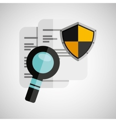 Document search shield protection design vector