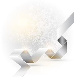 Folded ribbon vector image