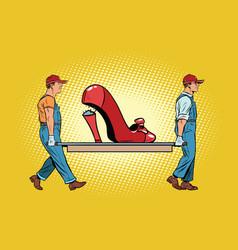 Womens shoes the heel broke vector