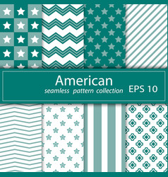 A set of eight paintings seamless fabric nautical vector