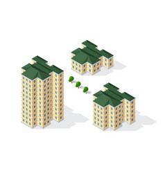 Isometric 3d dimensional building of modern vector