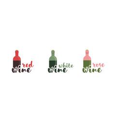 Wine text typography calligraphic text vector