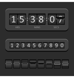 Countdown board vector