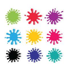 Colorful blots vector