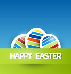 Easter background with paper eggs vector