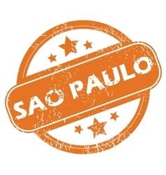 Sao Paulo round stamp vector image