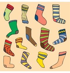 Socks set vector
