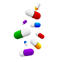 Colored pills vector