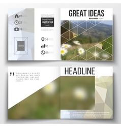 Set of square design brochure template vector