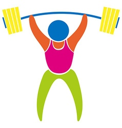 Colored sport icon for weightlifting vector