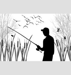 Angler vector image