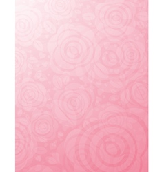 background with many pink roses vector image