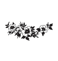 Beautiful blossoming wild rose branch vector image vector image