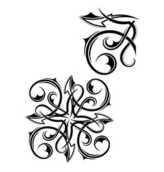 Black tribal element for design vector image vector image