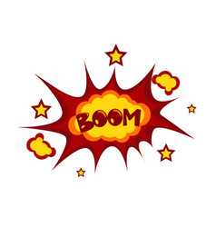 boom sticker chat message label icon colorful vector image vector image