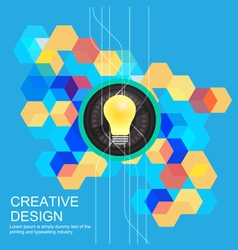creative idea concept design vector image