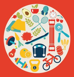Healthy Lifestyle Background - vector image vector image