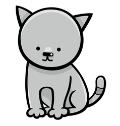 Kitten cartoon character vector