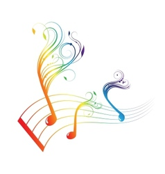 Musical notes staff background vector image vector image