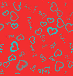 Pattern on red background cute tile with small vector