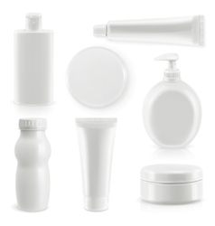 Plastic packaging cosmetics and hygiene vector