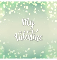 Romantic Typographic poster vector image vector image