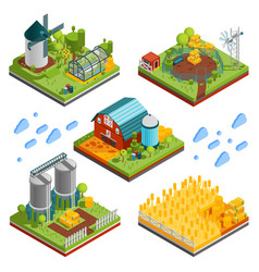 rural farm landscape elements vector image vector image