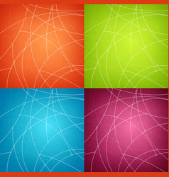 Set of abstract geometric backgrounds vector