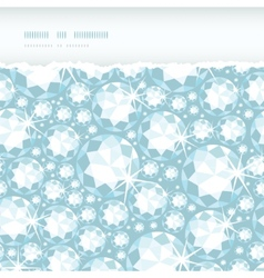 Shiny diamonds horizontal torn frame seamless vector