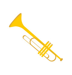 Simple gold trumpet instrument graphic vector
