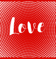 valentines day card love text design heart card vector image vector image