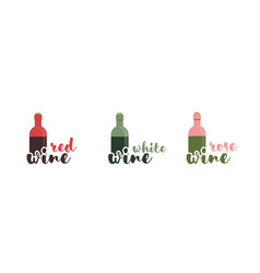 wine text typography calligraphic text vector image