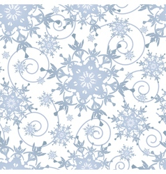 Winter festive seamless pattern with snowflakes vector image vector image