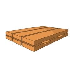 Wood boards icon cartoon style vector