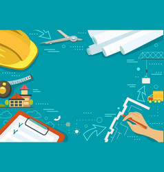 working table architect vector image