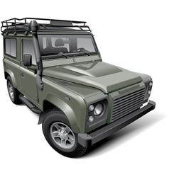British off road utility vehicle vector image
