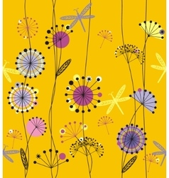 Dandelions flowers vector