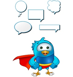 Super Blue Bird Hands On Hips vector image
