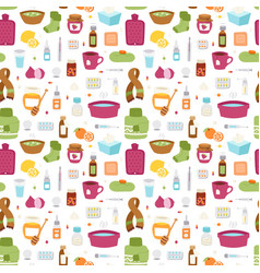 Flu influenza icons seamless pattern vector