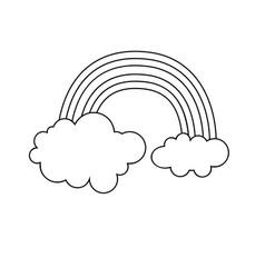 rainbow icon character 03 vector image