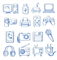 hand draw electronic vector image