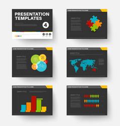 Template for presentation slides 4 vector