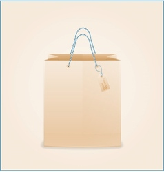 Craft paper shopping bag vector