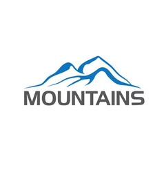Mountains abstract vector