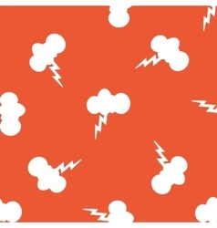 Orange thunderstorm pattern vector