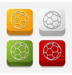 Square button ball vector