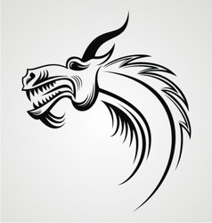 Dragon head tattoo design vector