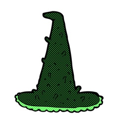 Comic cartoon spooky witch hat vector