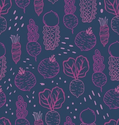 Fun beetroot and radish seamless pattern vector